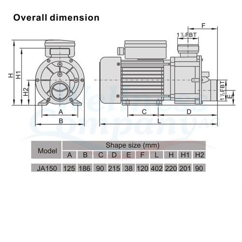 JA150 LX Whirlpool Pumpe
