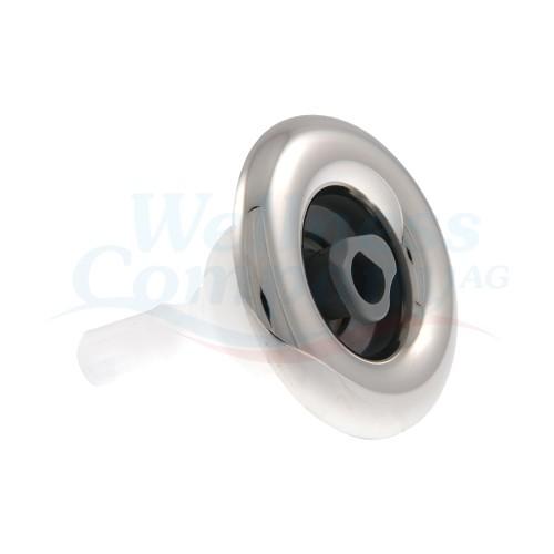 "Whirlpool Düse Cyclone Micro 2,5"" , rotierend rostfrei grau"